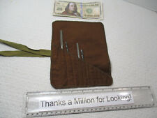 Vintage Machinist Drill Bit Pouch Holds Any 11 Small Shank Tools Reamers Taps
