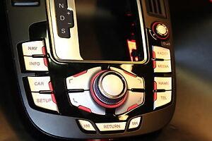 MMI-Aufkleber-Alu-matt-Doppelpfeil-fuer-Audi-A4-RS4-8K-A5-S5-8T-Q5-mmi-2G-und-3G