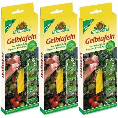 Trauermücken Neudorff Gelbe Leimtafeln 21 Stk.