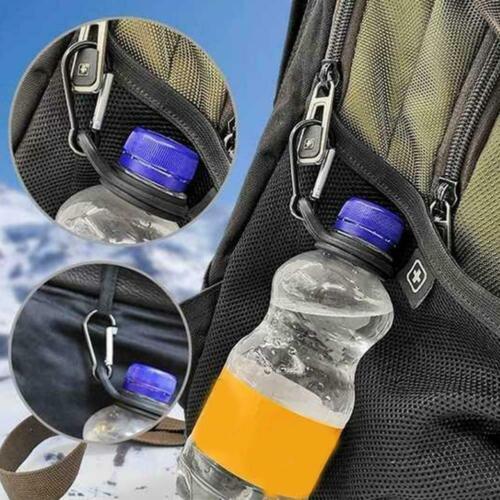 Sport Kettle Buckle Outdoor Carabiner Water Bottle Rubber Hooks Holder F4O7