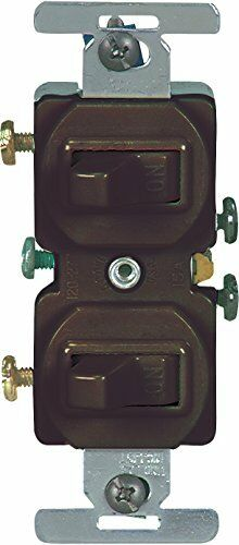 Brown Eaton 271B 15 Amp Commercial Grade Toggle Duplex Switch