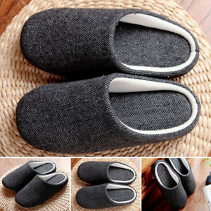 50f36a25287 2019 Mens Indoor Floor Soft Cozy Warm Non-slip Slippers Cotton House ...