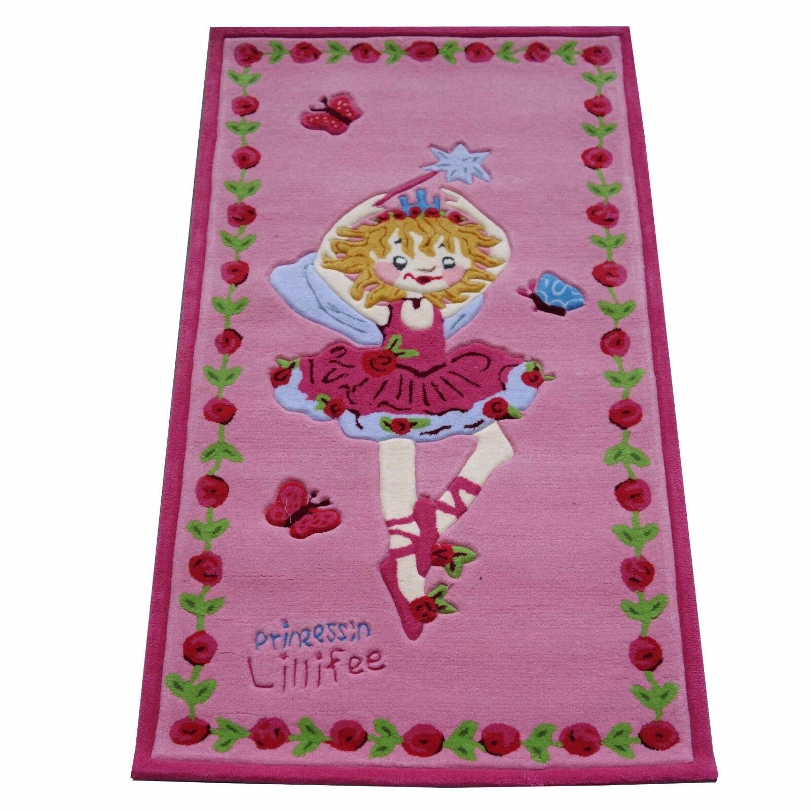 Tapis  Princesse Lillifee li2200-01  Handtuft kinderpielteppich 80x150 NEUF