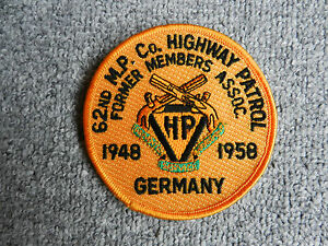 insigne-badge-tissu-Police-62nd-M-P-Highway-Patrol-GERMANY-1948-1958