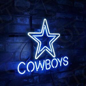 Star Shape Cowboy Neon SIgn Light Sport Team Video Game Room Pub Beer Bistro