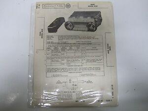 58 Edsel Model 855E Radio Parts List & Wiring Diagrams ...