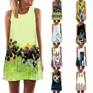 Vintage-Boho-Women-Girl-Summer-Sleeveless-3D-Floral-Print-Bohe-Tank-Mini-DressCA