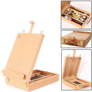 French-Easel-Artist-Wooden-Table-Top-Desk-Sketch-Case-Floor-Easel-Art-Painters