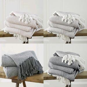 Soft Chair Bed Blanket Chevron Weave