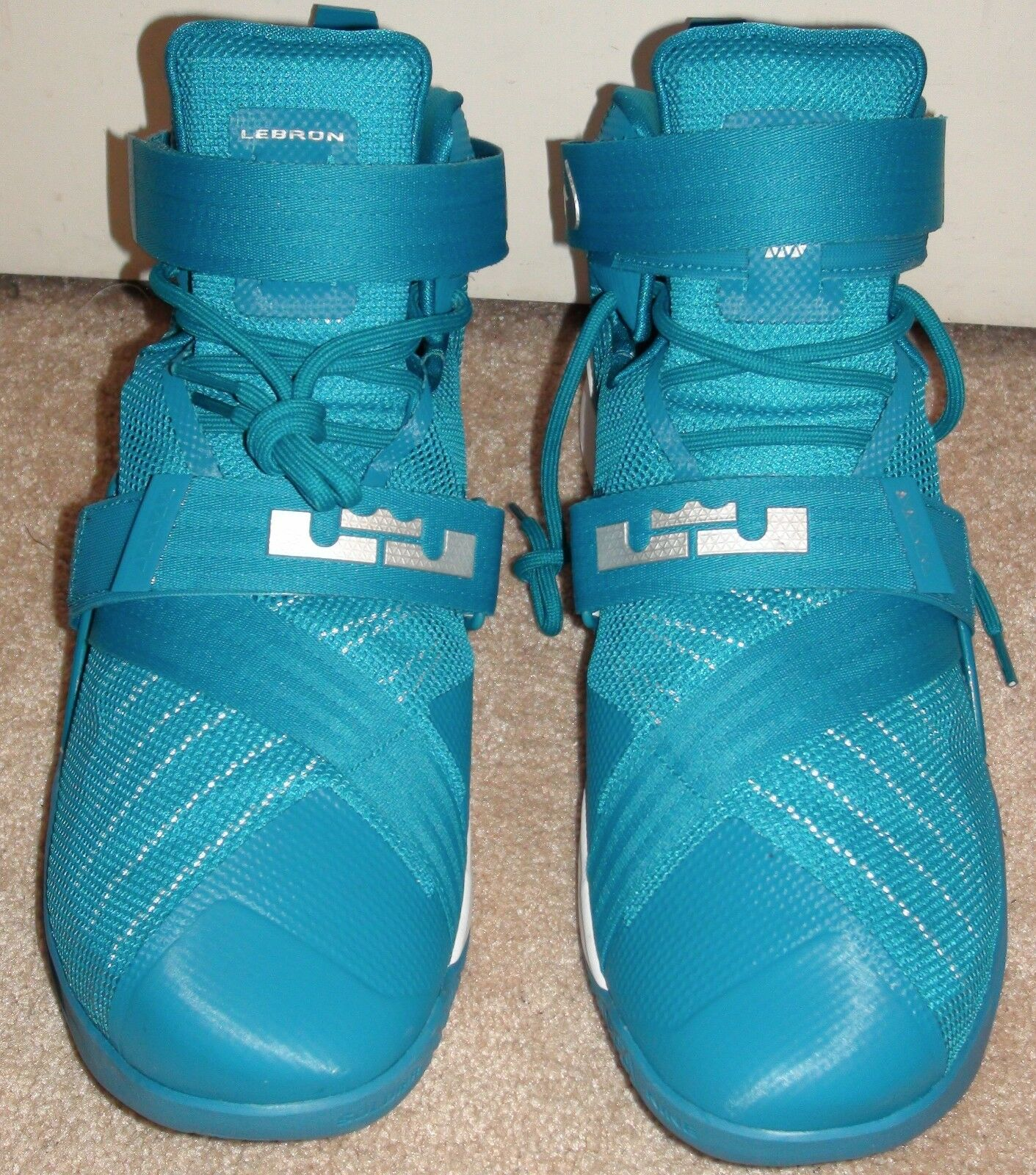Nike Lebron Soldier IX 9 Basketball Shoes Teal Cavaliers 813264 331 NEW Sz 16