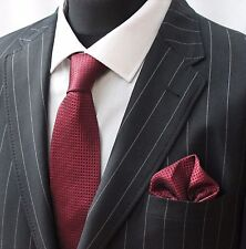 Tie Neck tie with Handkerchief Dark Red