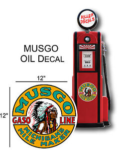 "12/"" 1930-40 OREGON CHIEF GASOLINE DECAL FOR OIL CAN GAS PUMP LUBSTER"