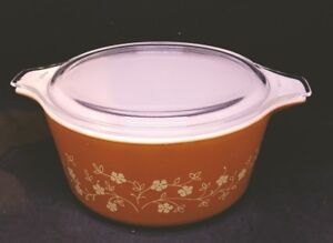 Vintage Pyrex 474 Trailing Flowers Covered Casserole