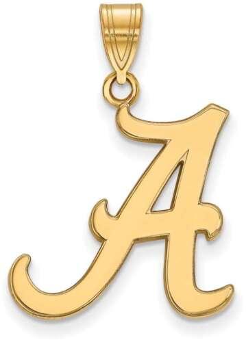 4Y004UAL 14K Yellow Gold University of Alabama Large Pendant by LogoArt