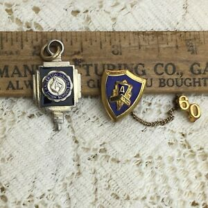 Vintage-Anderson-Union-High-School-Senior-Graduate-Pin-Key-Charm-California-LOT