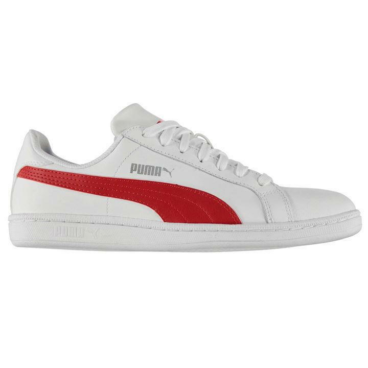 New homme Branded Puma Trainers Leather Classic Style chaussures Smash Leather Trainers 55d8c6
