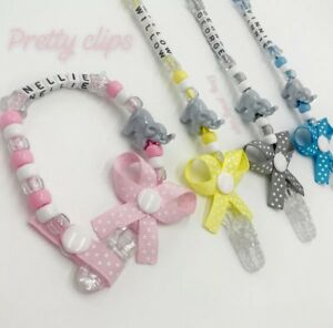 Personalised-Elephant-Dummy-Clip-Any-Name-Any-Colour