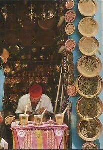 Alte-Postkarte-Tunis-Graveur-sur-cuivre