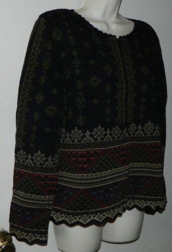 Femmes Connexion M de longues Casual manches Taille Veste travail péruvienne Chandail Cardigan à ffCn1wSq