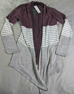 Details about Mix By 41 Hawthorn Women's Abrianna Brushed Knit Cardigan TM8 Purple Size XS NWT