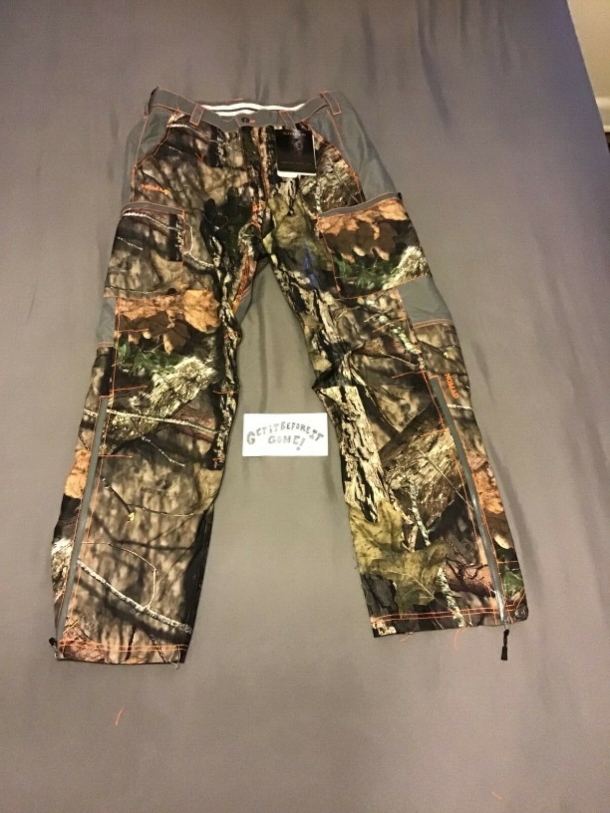 Pantalones de caza nómada (calzoncillos integrales) (camuflaje woodsy) (diseño 6)