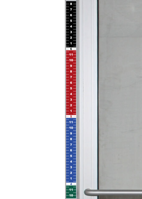Set of 4 - Security Height Ruler Tape Door Frame 1.75\