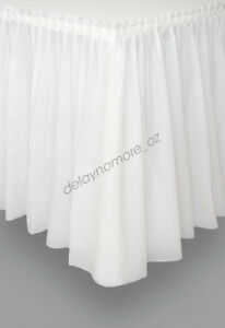 White-Plastic-Table-Skirt-Tableskirt-Engagement-Wedding-Party-Decoration-4-26m