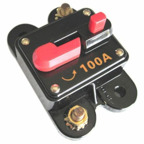 12 Volt Car 100 AMP Circuit Breaker with Reset up to 1000 watts stereo K4P6