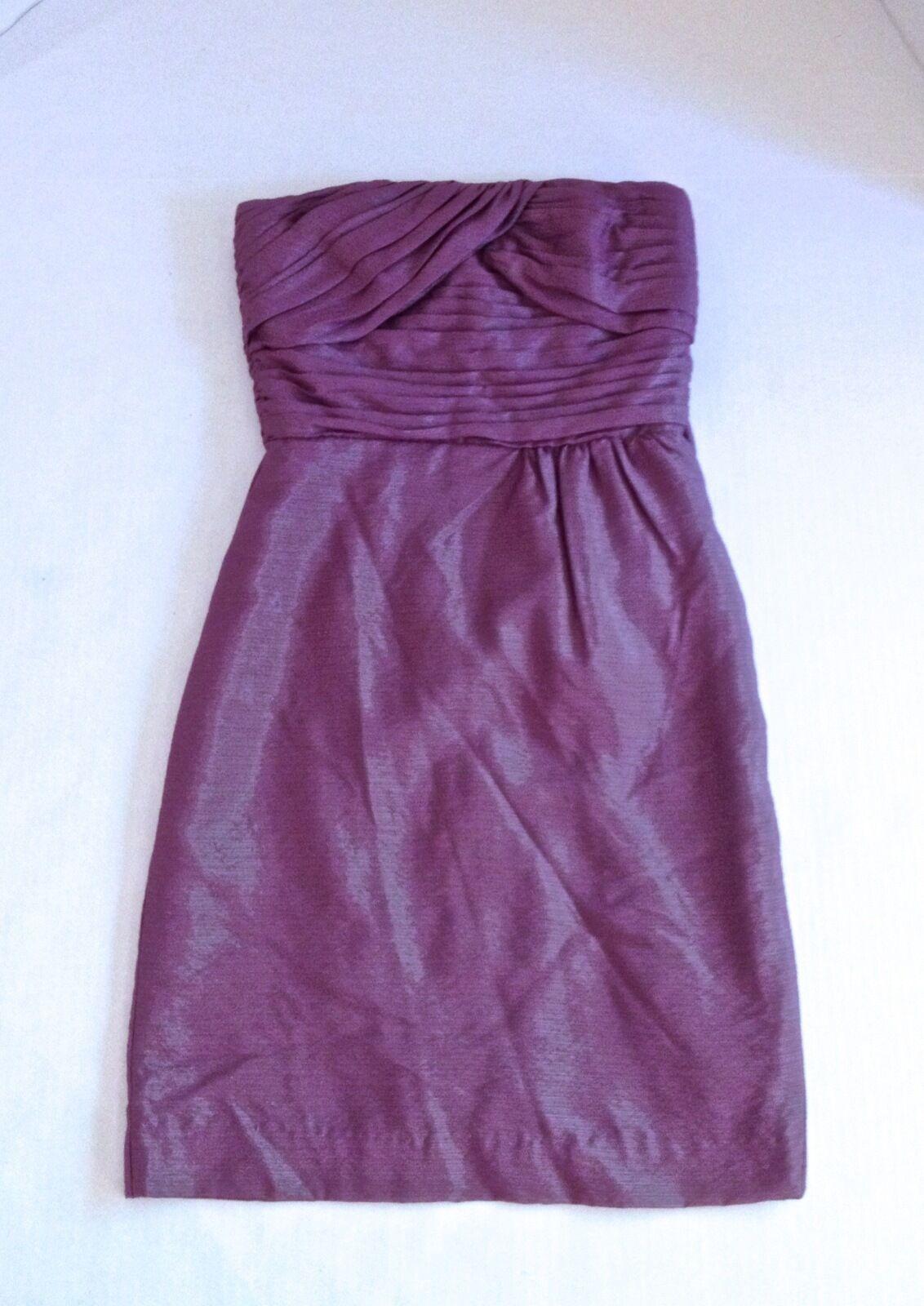 BCBGeneration damen Größe 2 lila Strapless Dress Tierot Rear Panels NWOT