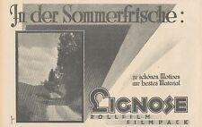 Y4947 Rollfilm und Filmpack LIGNOSE - Pubblicità d'epoca - 1927 Old advertising