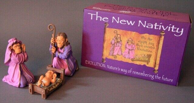 Ron English The New Nativity Science-Based Holiday 3-Piece Vinyl Figure Set