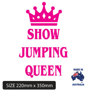 LARGE-STICKER-SHOW-JUMP-QUEEN-DECAL-UTE-4WD-HORSE-FLOAT-TRUCK
