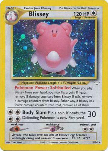 Blissey Holo Pokemon Card Neo Revelation 2//64