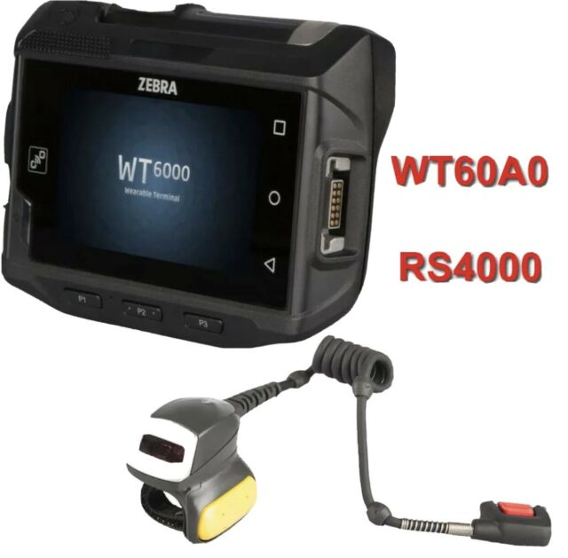 WT60A0 WT6000 + RS4000 Zebra Android Wrist Mount Barcode