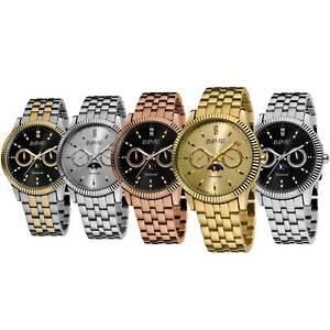 Men-039-s-August-Steiner-AS8050-Multifunction-Date-Day-Moon-Phase-Diamond-Watch