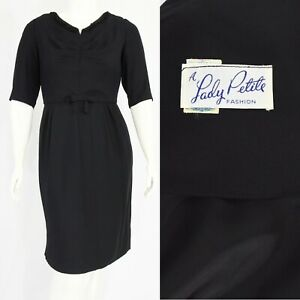 50s Embellished Black Dress