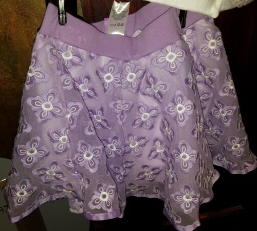 NEW DISNEY EMBROIDERED LACE SOFIA THE FIRST GIRLS 2 PIECE SKIRT SKORT SET