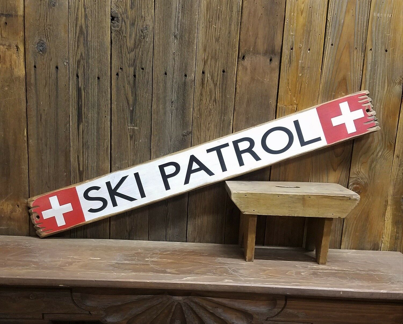 Ski Patrol Rustic Wood Sign, Cabin decor, Lodge decor, Snow skiing, Mountains