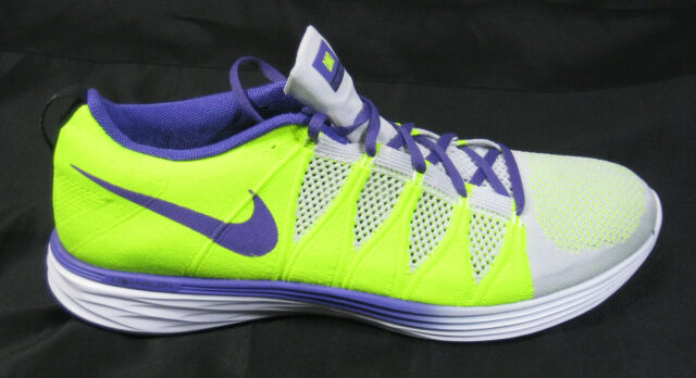 info for f4ca0 0ad8e 2014 NIKE FLYKNIT LUNAR 2 ID RUNNING SHOES SZ 15 VOLT PURPLE Light Gray