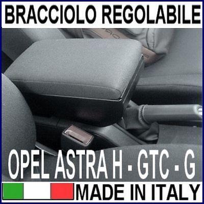 Auto Braccioli per Astra H Doppio Strato Scatola Portaoggetti Console Centrale Interna with 3 USB Charging Port Nero con cuciture bianche