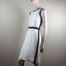 ECI New York Damen Kleid Gr L 40 Creme Etuikleid Hochzeit Party Chic Dress Robe