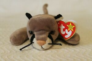 Vintage TY Canyon the Cougar Beanie Babies Retired 8/16/99 New with Mint Tags!