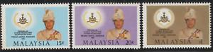 (122A)MALAYSIA 1985 PERAK SULTAN SET 3V FRESH MNH. CAT RM 10
