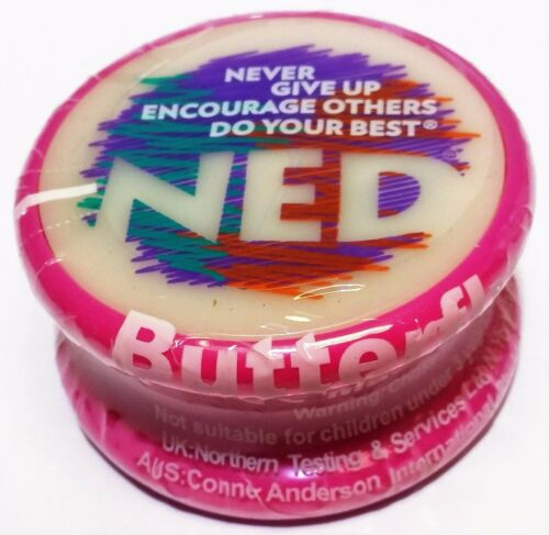 "NED YO Yo-Yo Glow-in-the-dark face /""NEVER GIVE UP ENCOURAGE OTHERS DO YOUR BEST/"""