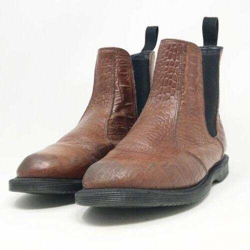Dr. Martens Flora Brown Leather Boot SZ 8
