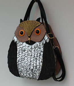 Eulen-Handtasche-Uhu-Fashion-Damen-Tasche-Gaga-Eye-Catcher