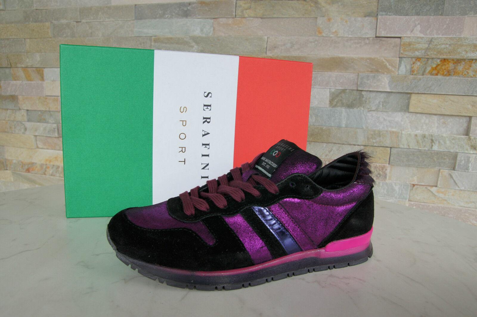 SERAFINI SPORT Sneakers Gr 40 Schnürschuhe Schuhe Scarpe Violet neu UVP 187