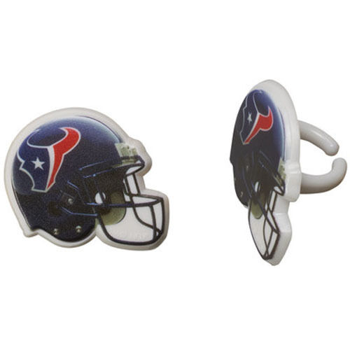 12 Houston Texans NFL Football Cupcake Rings Toppers Decorations Party  Favors  2699c9b30