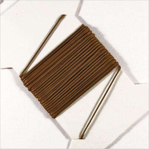5m Marron pour Colliers et Bracelets de perles Cordon Coton Ciré 0,5mm
