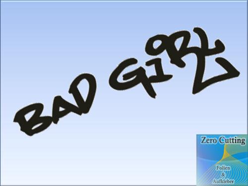 Bad Girl Aufkleber Tuner Marken Sponsoren Logo Decals JDM cool Style